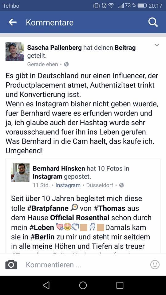 Sascha Pallenberg Facebook Story